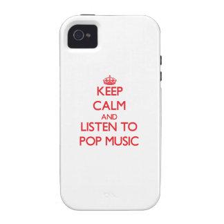 Gardez le calme et écoutez la MUSIQUE POP Coque iPhone 4/4S