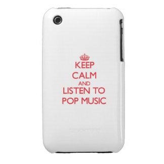 Gardez le calme et écoutez la MUSIQUE POP