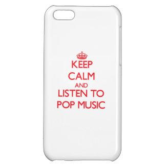 Gardez le calme et écoutez la MUSIQUE POP Étuis iPhone 5C
