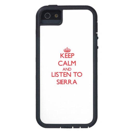 Gardez le calme et écoutez la sierra étuis iPhone 5