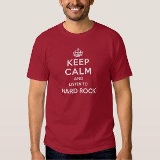 Gardez le calme et écoutez le hard rock t-shirts