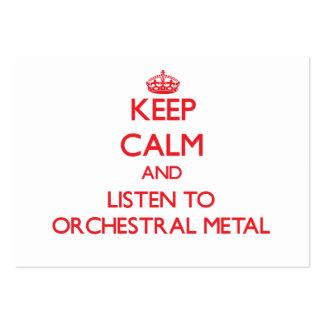 Gardez le calme et écoutez le MÉTAL ORCHESTRAL