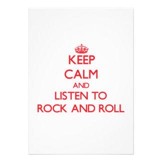 Gardez le calme et écoutez le ROCK