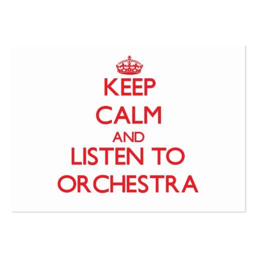 Gardez le calme et écoutez l'ORCHESTRE Cartes De Visite Professionnelles