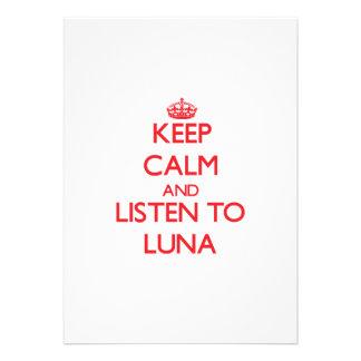 Gardez le calme et écoutez Luna