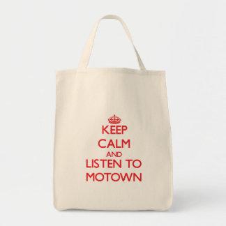 Gardez le calme et écoutez MOTOWN Sacs Fourre-tout