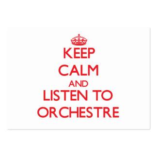 Gardez le calme et écoutez ORCHESTRE Carte De Visite
