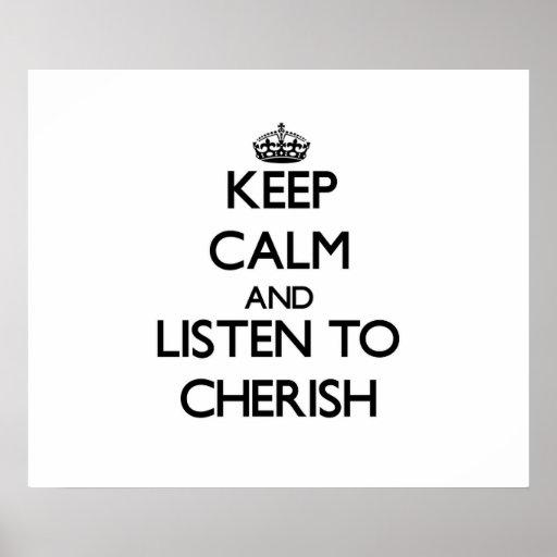Gardez le calme et écoutez pour aimer posters
