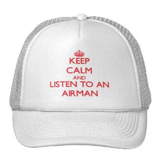 Gardez le calme et écoutez un aviateur casquette