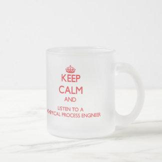Gardez le calme et écoutez un processus chimique E Mug À Café