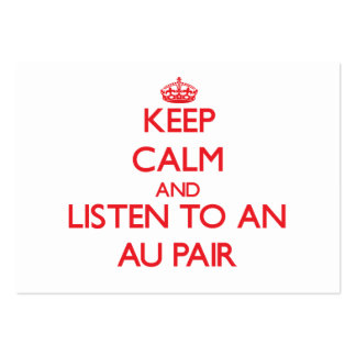 Gardez le calme et écoutez une paire d Au Carte De Visite