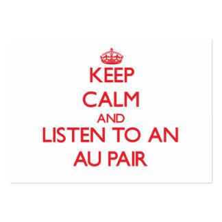 Gardez le calme et écoutez une paire d'Au Carte De Visite