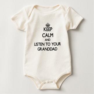 Gardez le calme et écoutez votre grand-papa body