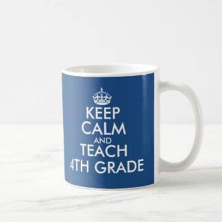 Gardez le calme et enseignez la 4ème tasse de