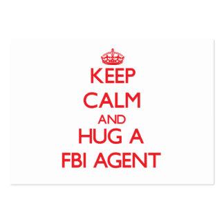 Gardez le calme et étreignez un agent du FBI Carte De Visite Grand Format