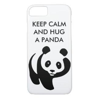 Gardez le calme et étreignez un cas de l'iPhone 7 Coque iPhone 7