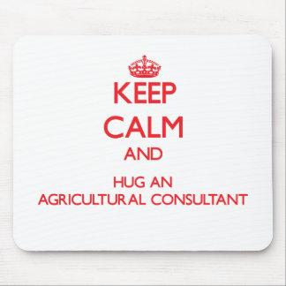 Gardez le calme et étreignez un conseiller agricol tapis de souris