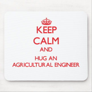 Gardez le calme et étreignez un ingénieur agricole tapis de souris