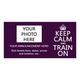 Gardez le calme et exercez-vous sur (la couleur carte avec photo