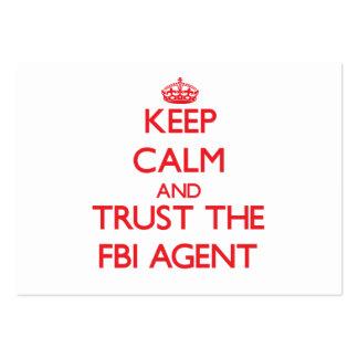 Gardez le calme et faites confiance à l'agent du F Carte De Visite Grand Format