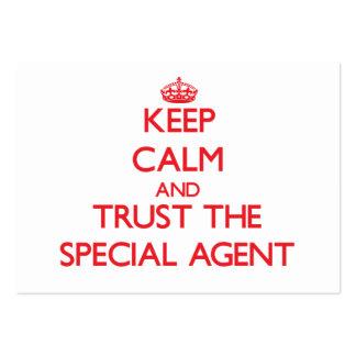Gardez le calme et faites confiance à l'agent spéc carte de visite grand format