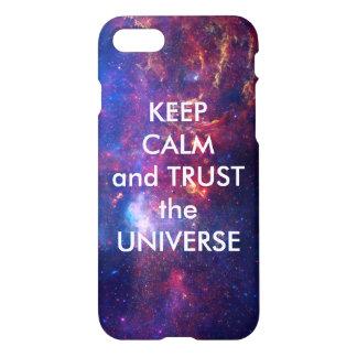 Gardez le calme et faites confiance à l'univers coque iPhone 7