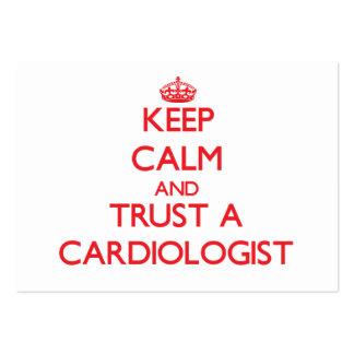 Gardez le calme et faites confiance à un cardiolog cartes de visite personnelles