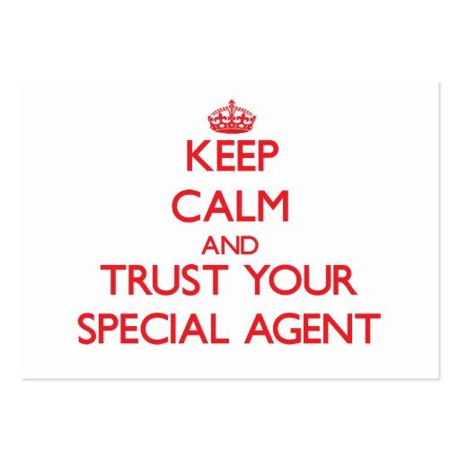 Gardez le calme et faites confiance à votre agent  cartes de visite professionnelles
