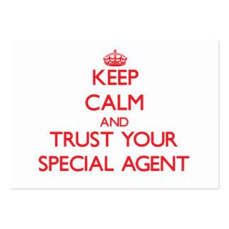Gardez le calme et faites confiance à votre agent carte de visite grand format