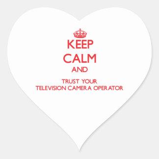 Gardez le calme et faites confiance à votre caméra sticker cœur