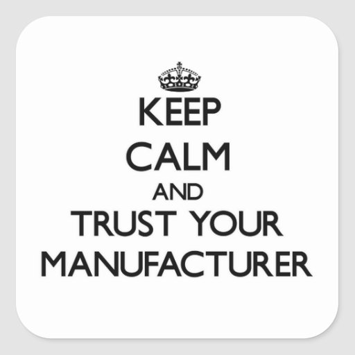 Gardez le calme et faites confiance à votre fabric autocollant carré