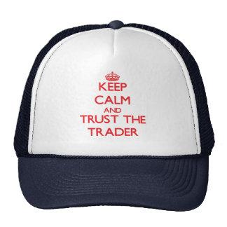 Gardez le calme et faites confiance au commerçant casquettes de camionneur