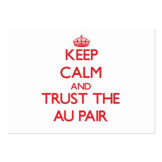 Gardez le calme et faites confiance aux paires d'A Modèles De Cartes De Visite