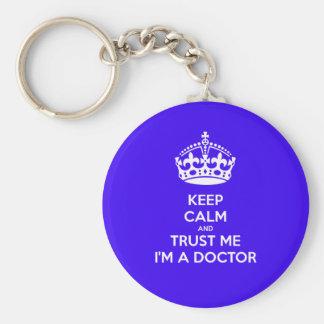 Gardez le calme et faites confiance que je je suis porte-clé rond