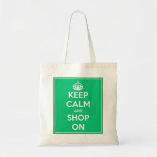 Gardez le calme et faites des emplettes sur le sac
