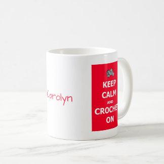 Gardez le calme et faites du crochet dessus - avec mug