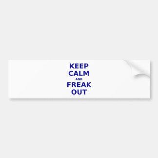 Gardez le calme et Freak Autocollant Pour Voiture
