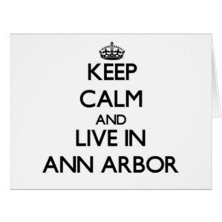 Gardez le calme et habitez à Ann Arbor Cartes De Vœux