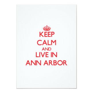 Gardez le calme et habitez à Ann Arbor Carton D'invitation