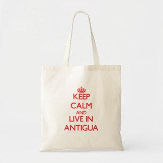 Gardez le calme et habitez à l'Antigua Sacs