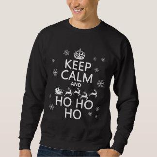 Gardez le calme et Ho Ho Ho - Noël/Père Noël Sweatshirt