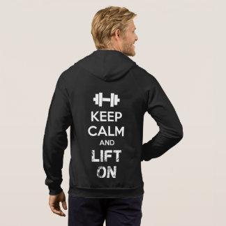 Gardez le calme et installez - la séance veste à capuche