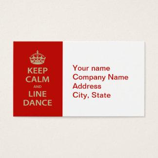 Gardez le calme et la ligne danse cartes de visite