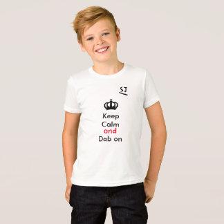 gardez le calme et la limande dessus t-shirt