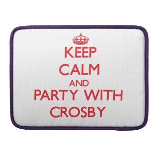 Gardez le calme et la partie avec Crosby Poche Pour Macbook Pro