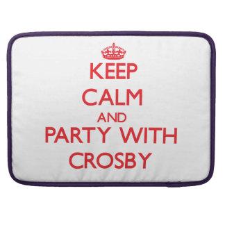 Gardez le calme et la partie avec Crosby Poches Pour Macbook Pro