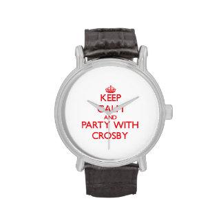 Gardez le calme et la partie avec Crosby Montres Bracelet