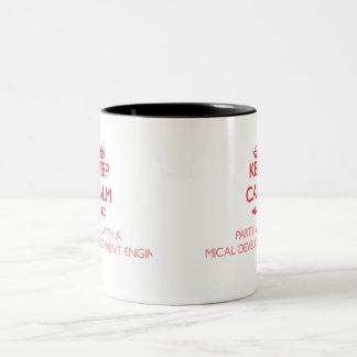 Gardez le calme et la partie avec de l'en chimique mug
