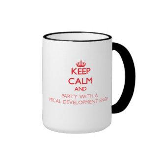 Gardez le calme et la partie avec de l'en chimique mugs à café