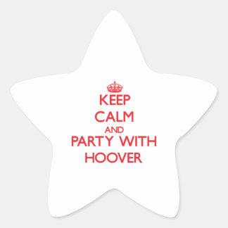 Gardez le calme et la partie avec Hoover Autocollants En Étoile